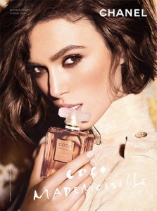 Keira Knightley is Eating This Perfume Bottle